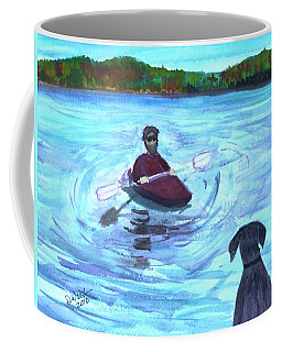 Coffee Mug featuring the painting Hey Where You Going  by Donna Walsh