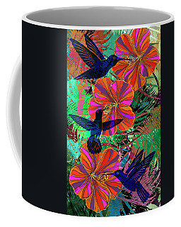 Hibiscus And Hummers Coffee Mug
