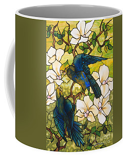 Hibiscus And Parrots Coffee Mug