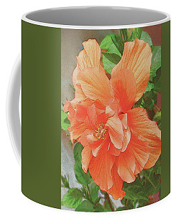 Coffee Mug featuring the painting Hibiscus Flower by John Dyess