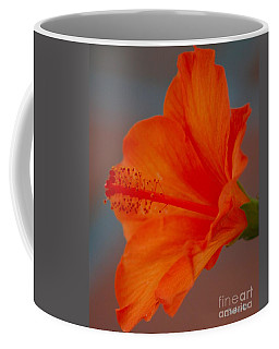Hot Orange Hibiscus Coffee Mug