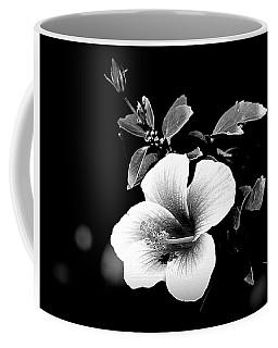 Coffee Mug featuring the photograph Hibiscus In The Dark by Lori Seaman