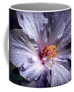 Hibiscus In The Rain Coffee Mug