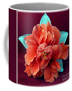 Hibiscus On Glass Coffee Mug