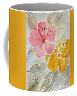 Coffee Mug featuring the painting Hibiscus Watercolor by Maria Urso