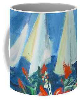 Hibiscus With An Orange And Sails For Breakfast Coffee Mug