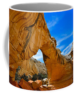 Coffee Mug featuring the photograph Hickman Bridge Natural Arch - Capitol Reef National Park by Dany Lison