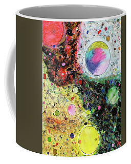 Coffee Mug featuring the mixed media Hidden Aliens by Michael Lucarelli