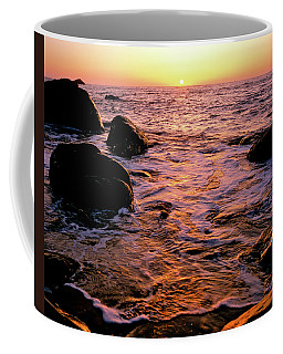 Hidden Cove Sunset Redwood National Park Coffee Mug by Ed  Riche
