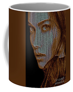 Coffee Mug featuring the digital art Hidden Face In Sepia by Rafael Salazar