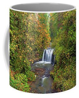 Hidden Falls In Autumn Coffee Mug