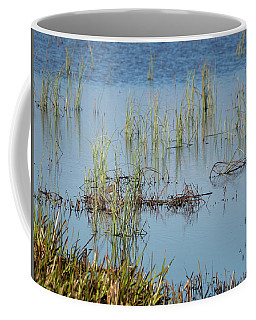Hidden In The Grass The Wood Sandpiper  Coffee Mug