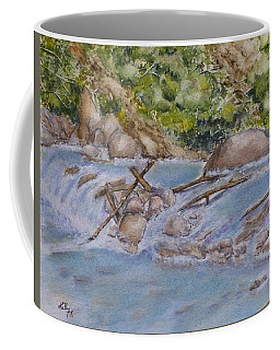 Coffee Mug featuring the painting Hidden Little Creek by Kelly Mills