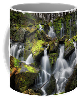 Coffee Mug featuring the photograph Hidden Mossy Falls by Bill Wakeley