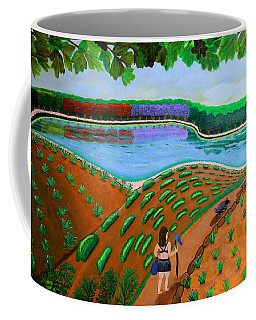 Hidden Water From Above Coffee Mug by Lorna Maza