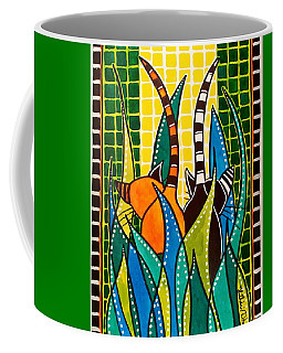 Hide And Seek - Cat Art By Dora Hathazi Mendes Coffee Mug