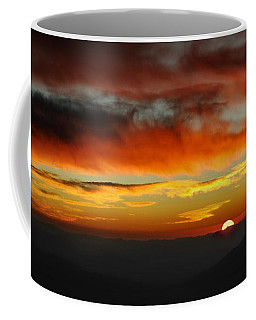Coffee Mug featuring the photograph High Altitude Fiery Sunset by Joe Bonita
