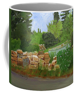 Coffee Mug featuring the painting High And Dry by Linda Feinberg
