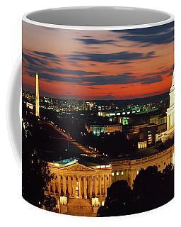 High Angle View Of A City Lit Coffee Mug