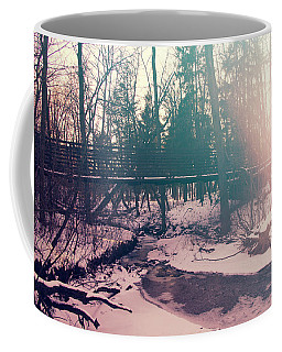 Coffee Mug featuring the photograph High Cliff Bridge by Joel Witmeyer
