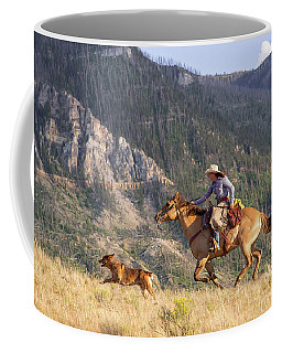 Coffee Mug featuring the photograph High Country Ride by Jack Bell