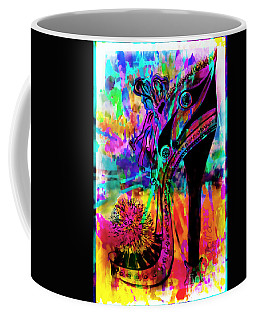 High Heel Heaven Abstract Coffee Mug by Jolanta Anna Karolska