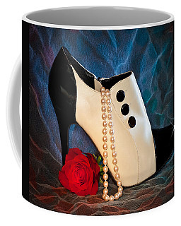 High Heel Spat Bootie Shoe Coffee Mug