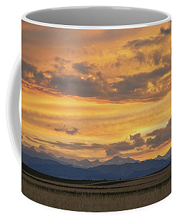 Coffee Mug featuring the photograph High Plains Meet The Rocky Mountains At Sunset by James BO Insogna