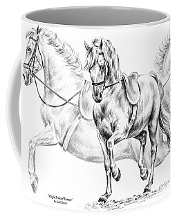 High School Dance - Lipizzan Horse Print Coffee Mug