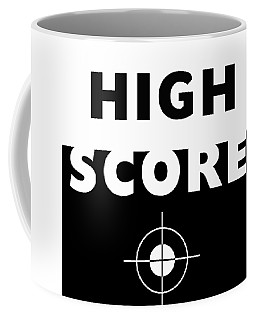 Coffee Mug featuring the mixed media High Score- Art By Linda Woods by Linda Woods