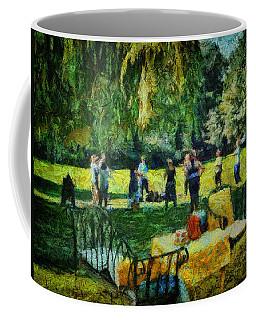 Coffee Mug featuring the digital art High Tea Tai Chi by Leigh Kemp