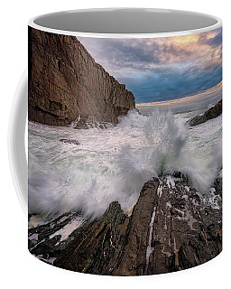 High Tide At Bald Head Cliff Coffee Mug by Rick Berk
