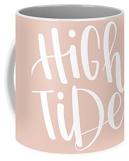 Coffee Mug featuring the mixed media High Tide by Nancy Ingersoll