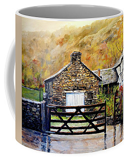 Coffee Mug featuring the painting High Yewdale Farm by Alan Lakin
