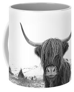 Highland Cow Mono Coffee Mug