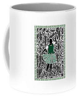 Coffee Mug featuring the digital art Highland Dancing by Darren Cannell