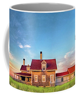 Coffee Mug featuring the painting Highland Lighthouse by Christopher Arndt