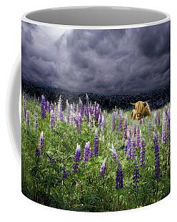 Highlander In The Lupine Coffee Mug