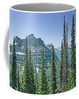 Highline Trail Panoramic - Glacier National Park Coffee Mug