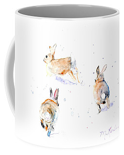 Hightailing Bunnies Coffee Mug