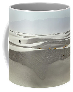 Hikers At White Sands Coffee Mug
