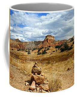 Coffee Mug featuring the photograph Hiking Ghost Ranch New Mexico by Kurt Van Wagner
