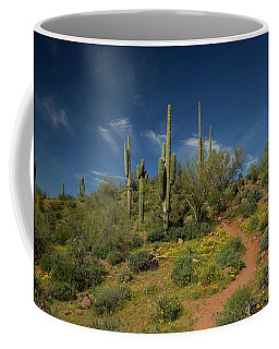 Hiking In Springtime Coffee Mug by Sue Cullumber