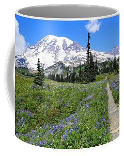 Hiking In The Wildflowers Coffee Mug by Lynn Hopwood