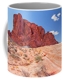 Hiking To The Fire Wave Coffee Mug