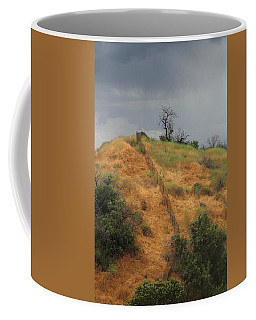 Hill Divided By Fence Coffee Mug