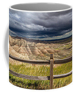 Hills Behind The Fence Coffee Mug