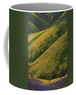 Hills Of Purple And Yellow At Carrizo Plain National Monument Coffee Mug by Jetson Nguyen