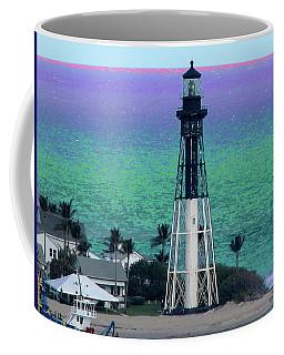 Hillsboro Lighthouse Purple Horizon Coffee Mug