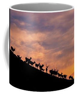 Coffee Mug featuring the photograph Hillside Elk by Darren White